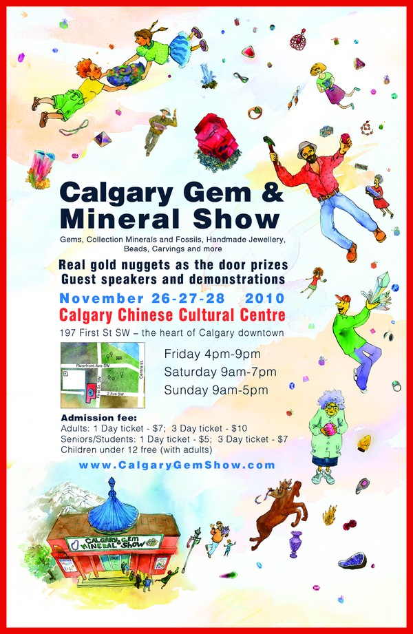 Calgary Gem & Mineral Show flyer side 1